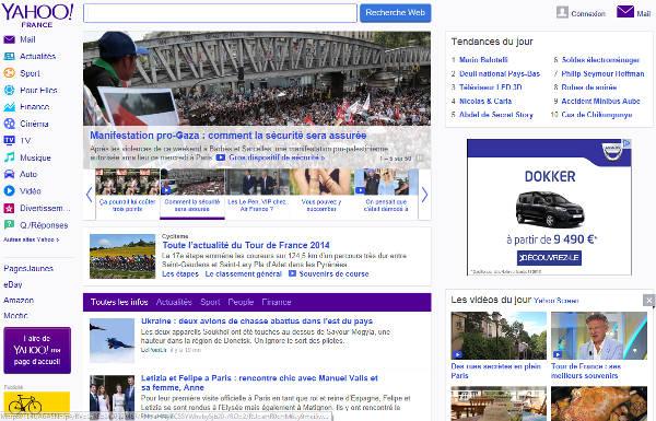 accueil site www.yahoo.fr