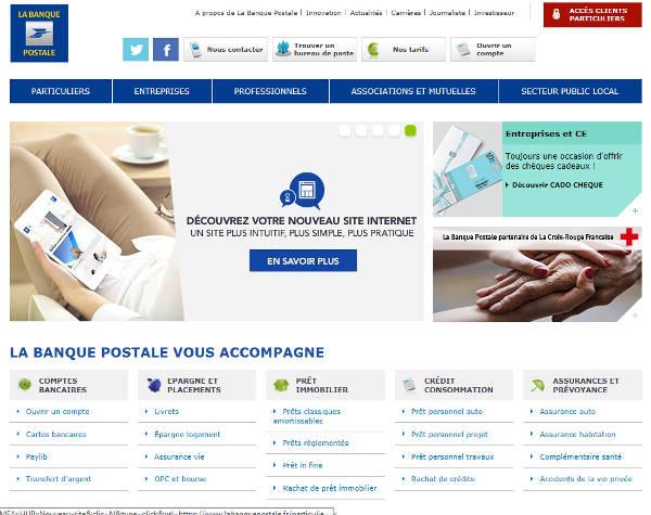 site www.labanquepostale.fr